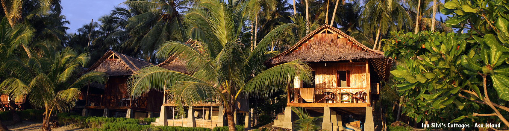 Ina silvi's cottages, Asu Island. Nias, Indonesia.