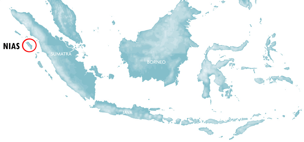 Indonesia Nias Map