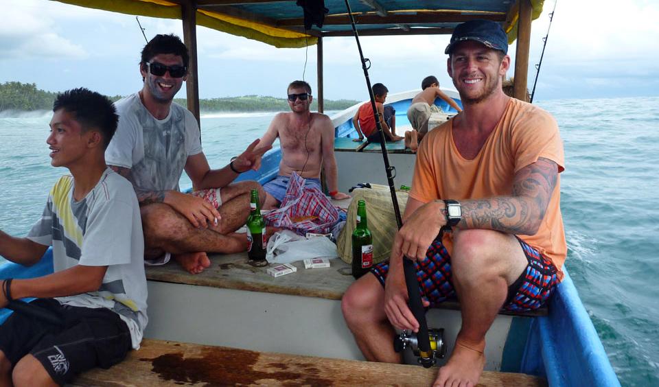 Fishing trip Nias Island Indonesia.