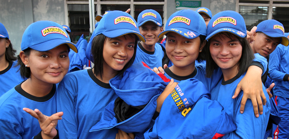 Paskibraka girls North Nias