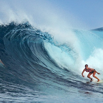 Surfing Bawa in the Hinakos, off the west-coast of Nias Island. Photo courtesy of www.asusurfcamp.com