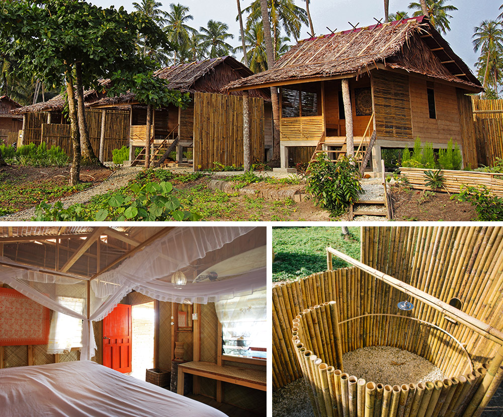 Afulu Retreat on Walo Beach. These are the individual 'de luxe' bungalows managed by Darus.