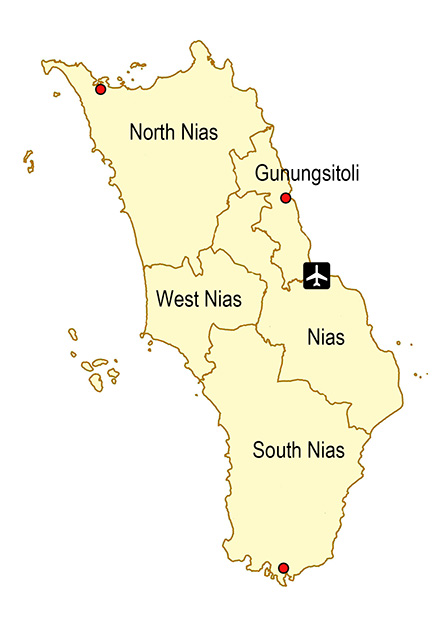 Nias-regencies-map