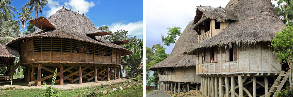 Traditional North Nias houses (Omo Hada) in Tugala Oyo sib-district, North Nias.