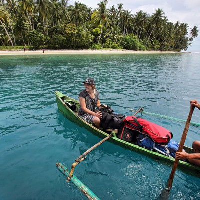 Island exploring off the west-coast of Nias Regency.