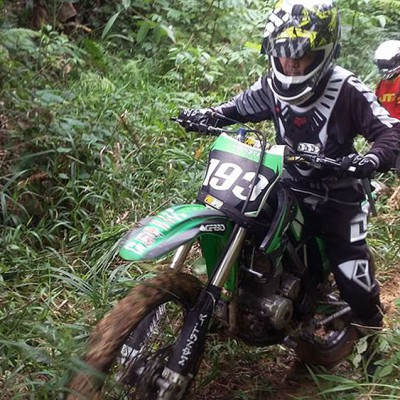 Motocross tour through the interior of Nias. Photo courtesy of Erwin Telaumbanua.