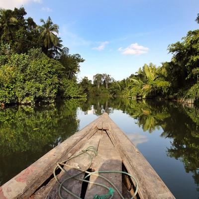 River exploration along La'fau river, Nias Utara