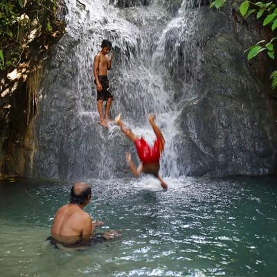 Tögi Gana'a waterfall, Afulu, Nias Utara