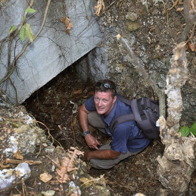 Exploring some old Japanese WW II bunkers in Toyolawa, North Nias.