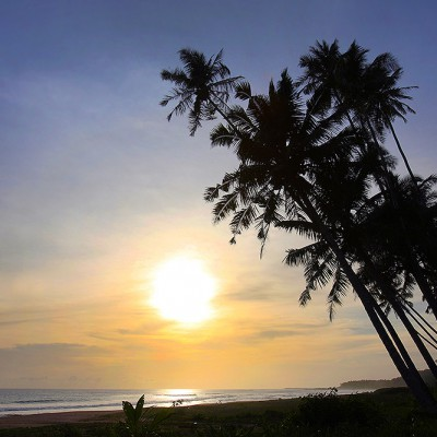 Sunset at the west-coast of Nias