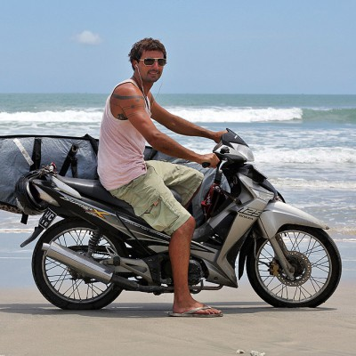 Wave hunt along the wild west coast of Nias Island. Some beaches can only be reached with a motorbike or on foot.