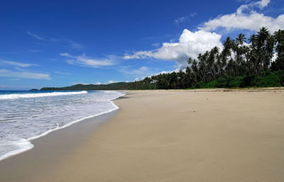 Moale Beach is four kilometers long