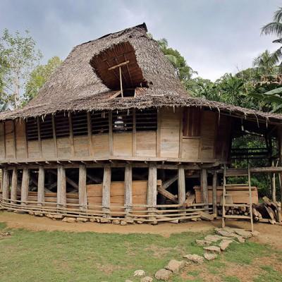A tradional northern Nias house. Humene Si'hene asi village, Tugala Oyo, Nias Utara.