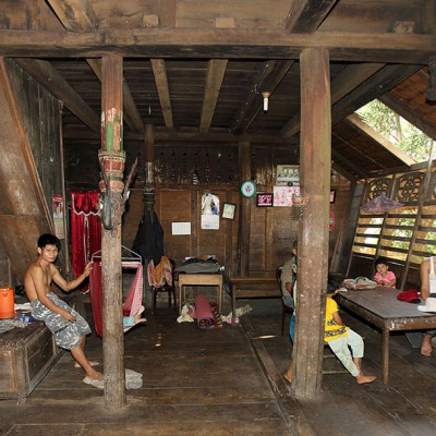 nside a North Nias traditional house. Alasa, Nias Utara.