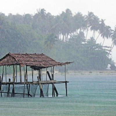 A rainy day at Asi Walo, Nias Utara