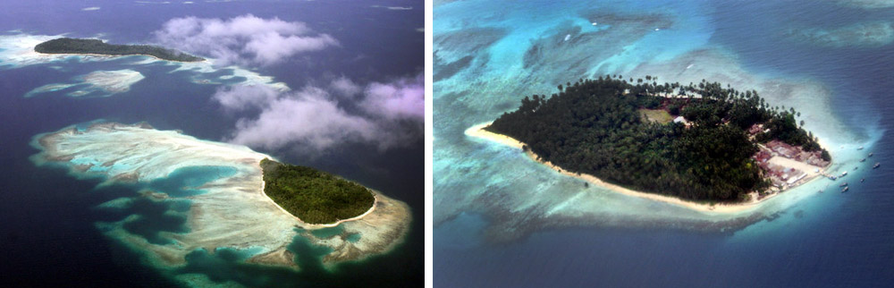 Telo Islands from above. Photo by Telloku.