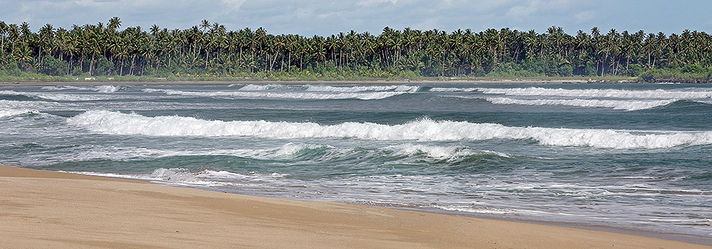 Hati-Hati! Be careful of currents and large waves on west-coast beaches during the April-October period.