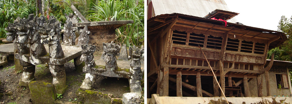 Megaliths and traditional houses in the Gomo region.