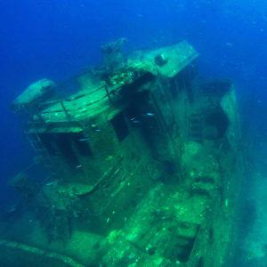 Ship wreck off Pulau Musi.